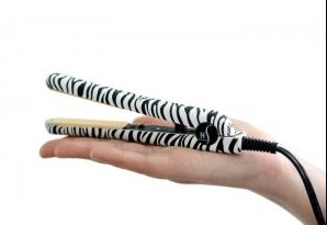 Herstyler Mini Zebra Hair Straightener & Curler (Flat Iron)