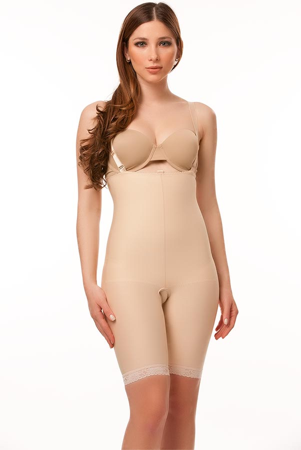 High Back Above Knee Plastic Surgery Compression Garment- Stage 2
