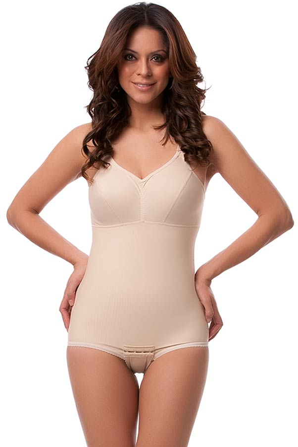 High Back Plastic Surgery Compression Garment w/Surgical Bra- Stage 2