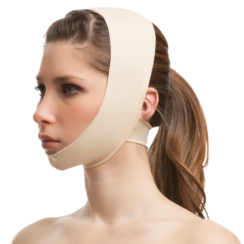 Plastic Surgery Chin Strap Support Compression Garment w/Double Panel