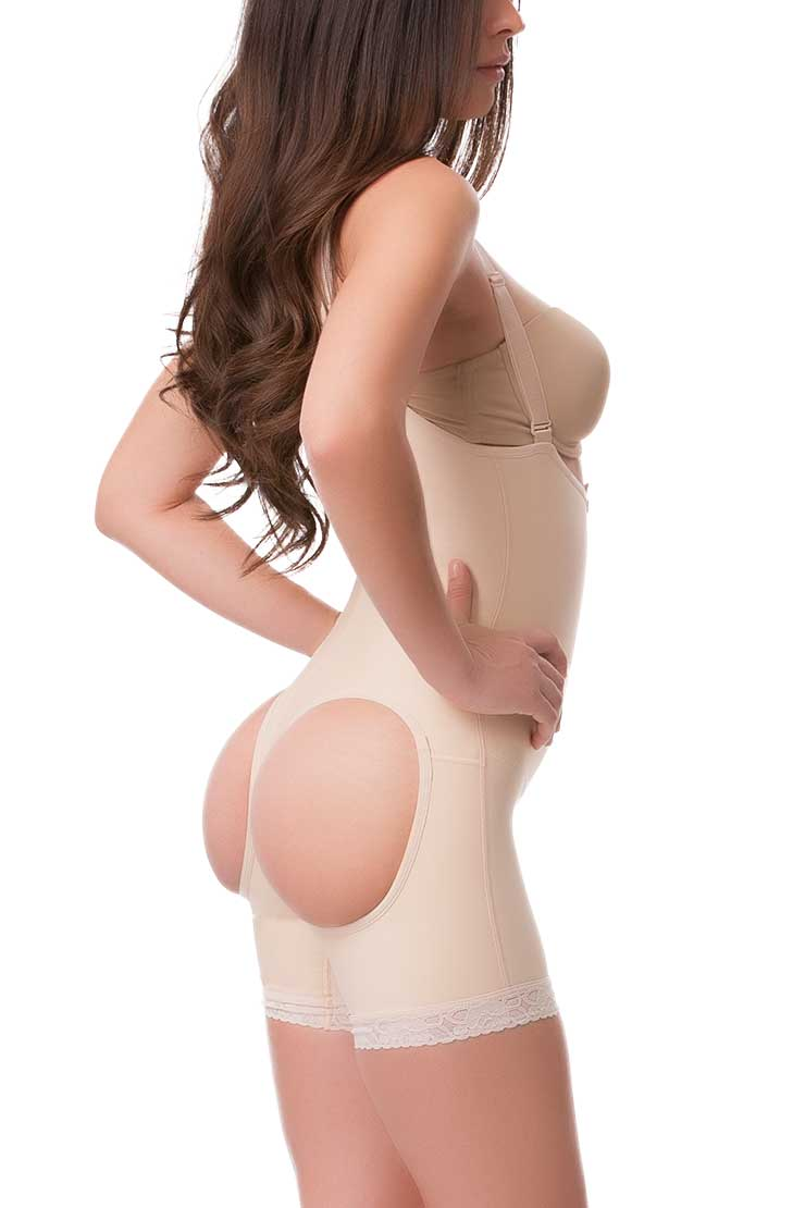 bbacfd58ae4f7 High Back Full Body Mid Thigh Buttocks Enhancing Compression Girdle ...