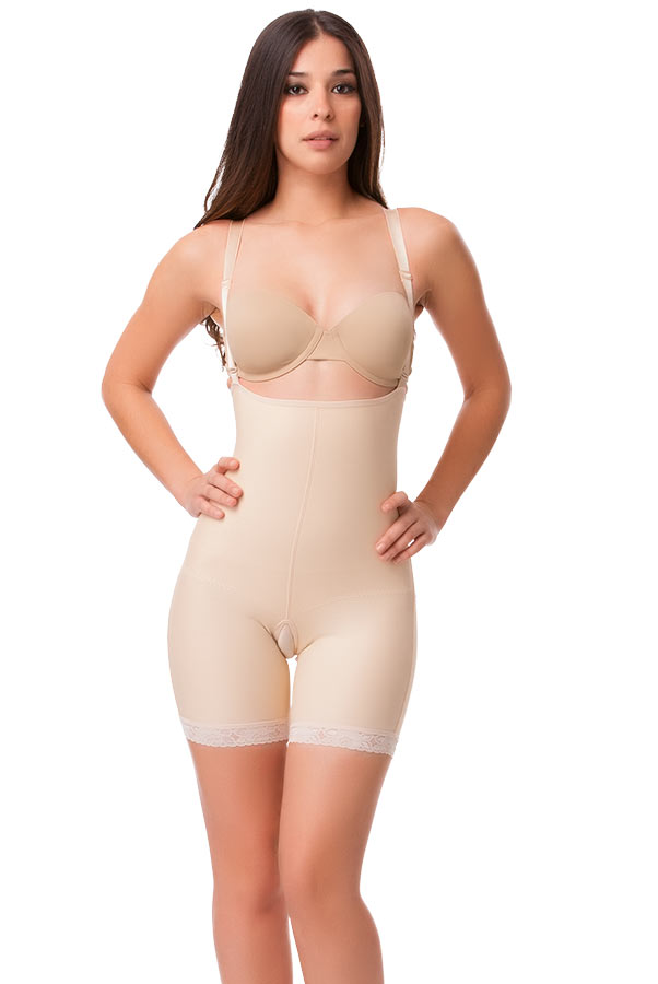 Full Body Mid Thigh Buttocks Enhancer Compression Girdle (Without Zipper)