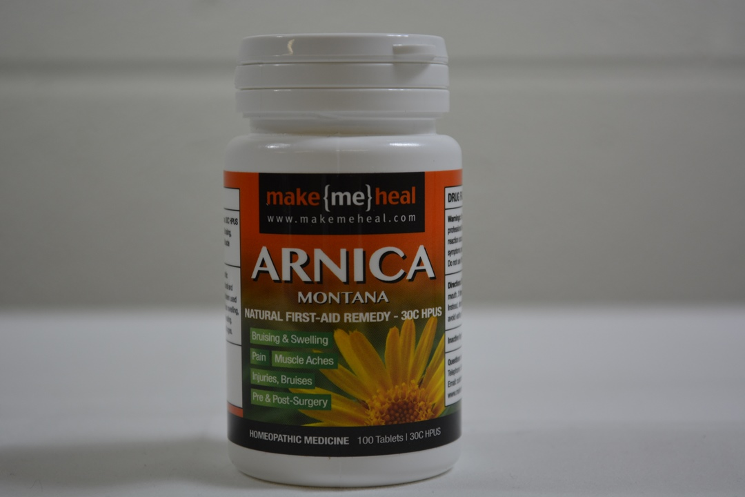 MakeMeHeal Arnica Montana Swelling & Bruising First-Aid Remedy –  30C Strength (100 tablets)
