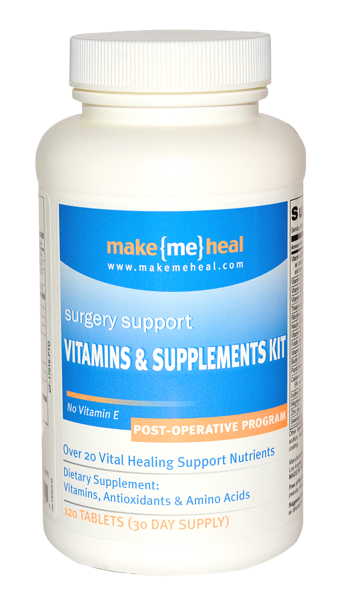 MakeMeHeal Plastic Surgery Healing Supplements & Vitamins - Post-Op Formula (w/Bromelain) - 30 Day