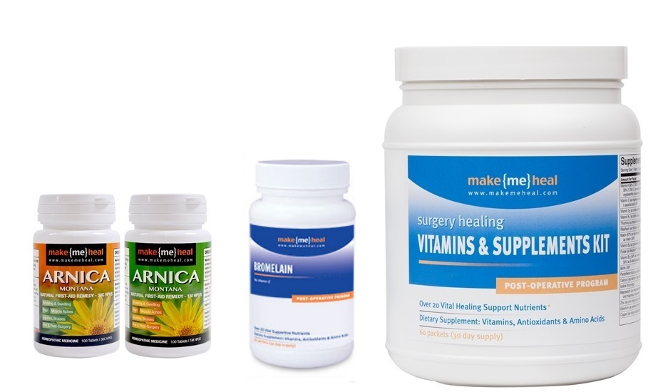 MakeMeHeal Complete Recovery Vitamins, Supplements, Arnica & Bromelain Kit