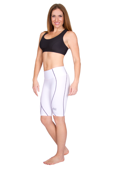 Marena Athletics8 Women's Exercise Shorts with Contouring Lines - Stage 3 (A8-204)