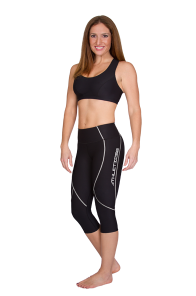 Marena Athletic8 Ladies' Women's Exercise Capris with Contouring Lines - Stage 3 (A8-205)