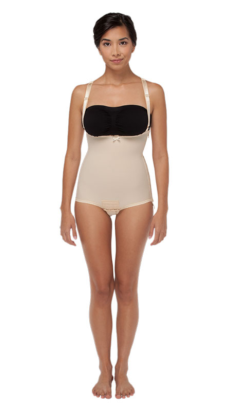 High Back Mid Body Cosmetic Surgery Recovery Compression Garment - Brief - Stage One (Marena)