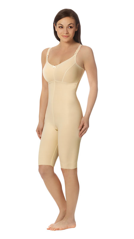 Full Body Breast Augmentation Recovery Compression Garment W/Bra - Above Knee - Stage 2 (Marena)