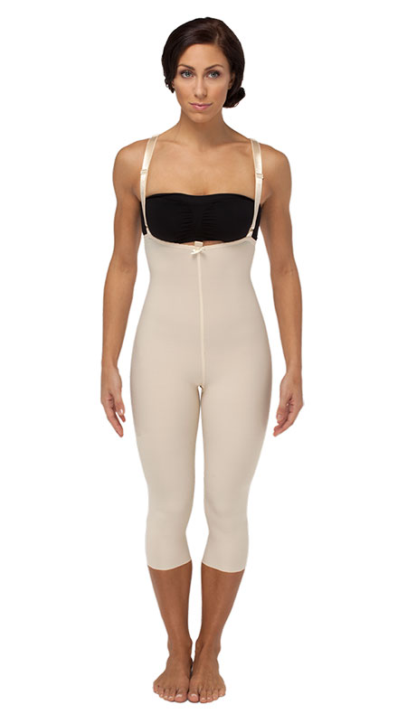 High Back Mid Body Plastic Surgery Compression Garment - Medium Length - Stage 2 (Marena)