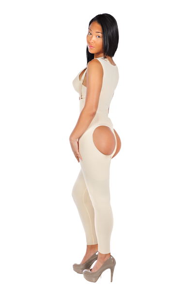 Marena Comfortwear Ladies' Girdles with Open Buttocks - Female Bodysuit With Open Buttock and Long Legs - Stage 1 (FBOL)