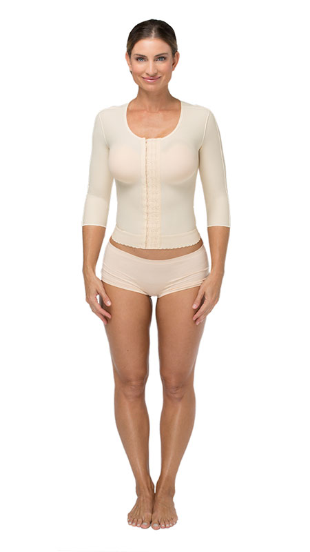 Marena Long Torso Vest w/ 3/4-Length Sleeves