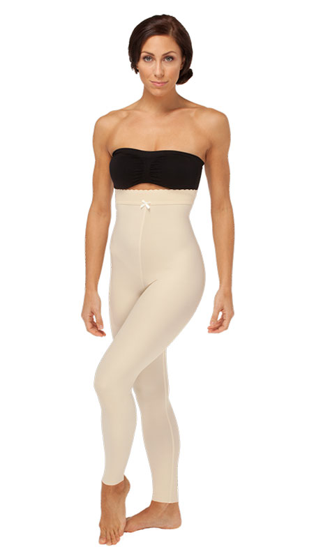 Marena ComfortWear Mid Body Plastic Surgery Compression Girdle - Ankle Length ( W/ No Lace) - Stage 2 (LGL2)