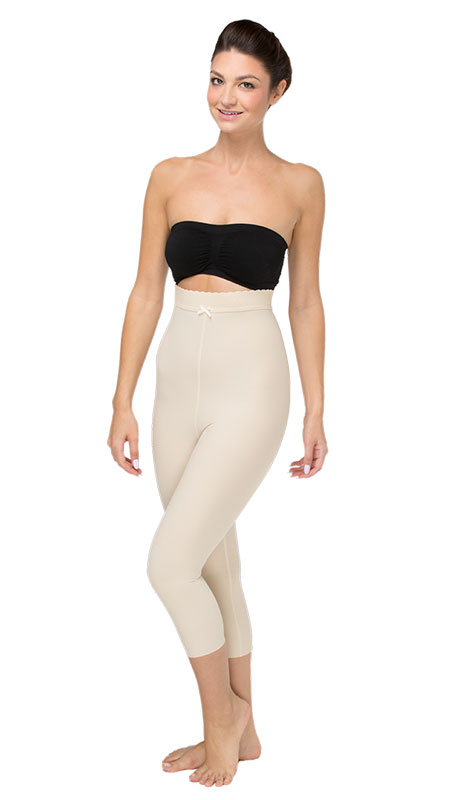 Marena Recovery Mid Body Cosmetic Surgery Compression Girdle - Medium-Length Legs ( W/ No Lace))- Stage 2 (LGM2)