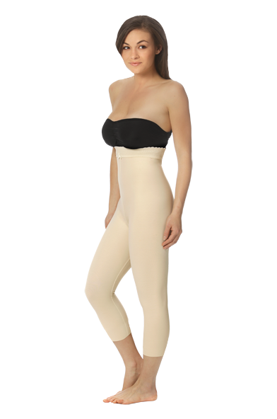 Marena ComfortWear Mid Body Cosmetic Surgery Compression Girdle - Medium-Length Legs ( W/ No Lace))- Stage 2 (LGM2)