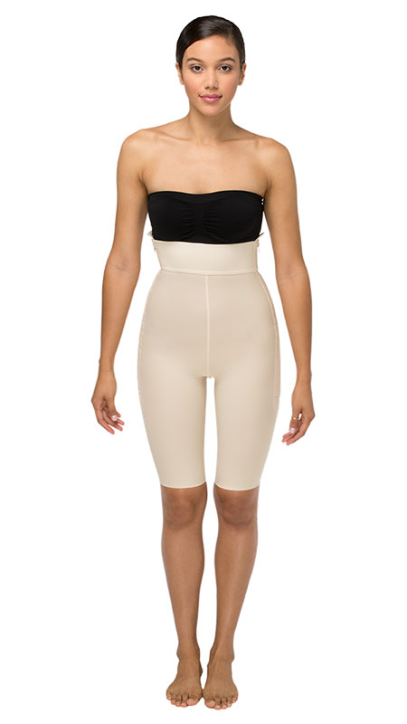 Marena Recovery Mid Body Cosmetic Surgery Compression Garment - Mid Thigh ( w/ No Lace)- Stage 2 (LGS2)