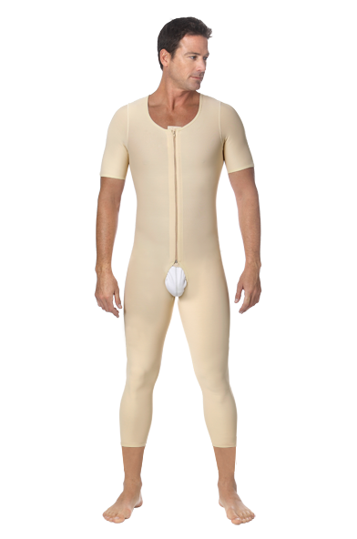 Marena ComfortWear Men's Compression Bodysuits with Short Sleeves - Stage 1 (MBM/SS)