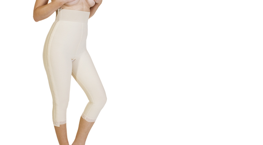 Mid Body Compression Girdle - Medium-Length Legs  w/ Separating Zippers - Stage 1 (Marena) - OPENED