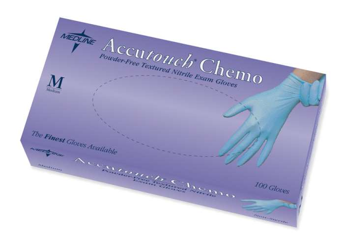 Accutouch Chemo Powder-Free, Latex-Free, Nitrile Exam Gloves, XL (10 boxes)