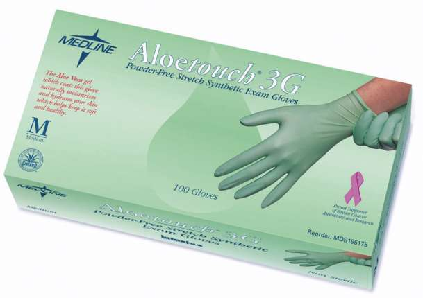 Aloetouch 3G Powder-Free Stretch Synthetic Exam Gloves, XL (10 boxes)