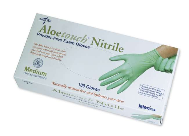 Aloetouch Nitrile Powder-Free Exam Gloves, MD (box of 100)