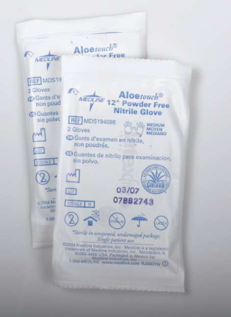 Aloetouch Sterile Nitrile Exam Gloves, LG (4 boxes)
