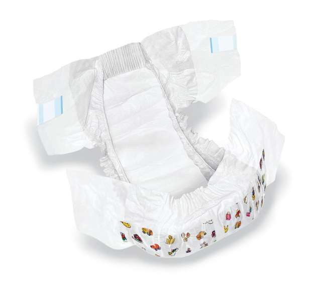 Baby Diaper, Cloth-like Cover, Size 4, 22-35lb (case of 220)