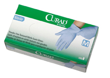 Curad latex-free, powder-free, Nitrile exam gloves, MD (10 boxes)