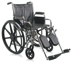Excel 2000 Wheelchair w/ Removable Desk Length Arms and Elevating Legrests (18in black)