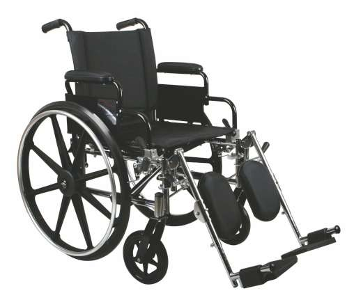 Excel K4 Standard Wheelchair w/ Swing Back Arms and Detachable Footrests (18