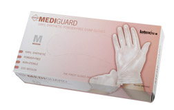 MediGuard Select Powder-Free, Latex-Free Synthetic Exam Gloves, MD