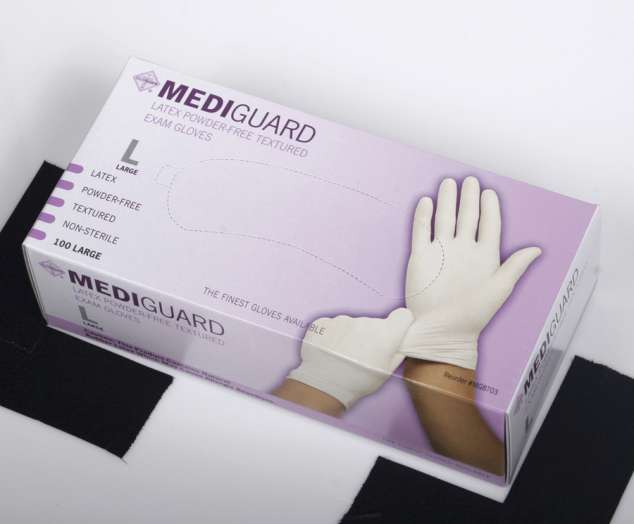 Mediguard Latex Exam Gloves, MD
