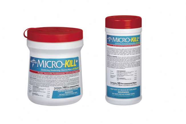 MicroKill Plus Germicidal Wipes, 160 count
