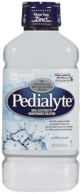 Pedialyte Electrolyte Solution, Unflavored (case of 8)