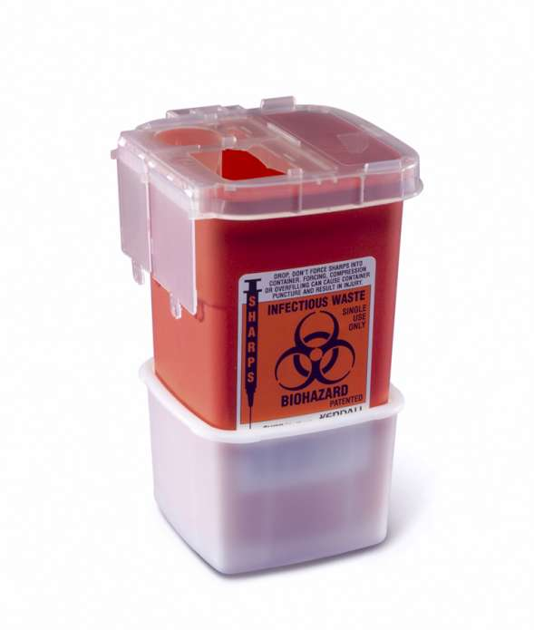Portable Phlebotomy Sharps Container, 1qt (case of 100)