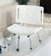 Shower Chair w/ Back, Unassembled (case of 3)