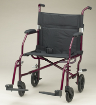 Ultralight Transport Chair (19in blue)
