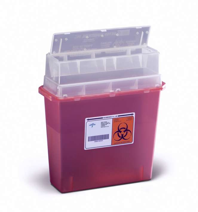 Wall Mount Sharps Container, 5qt (case of 30)