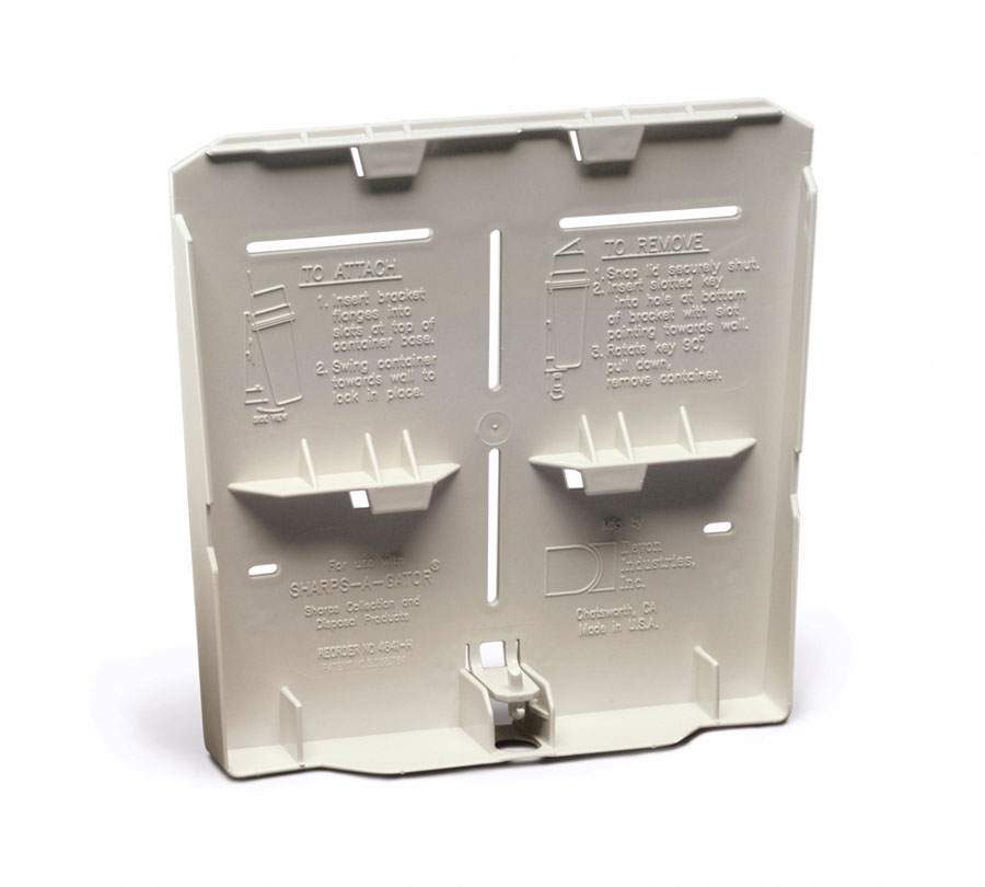 Wall Mount Sharps Container Locking Bracket