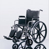Excel 2000 Wheelchair w/ Permanent Arms (18in black)