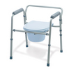 Folding 3 In 1 Steel Commode