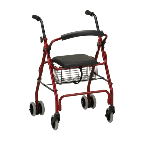 Nova Medical Cruiser Classic Rolling Walker Red