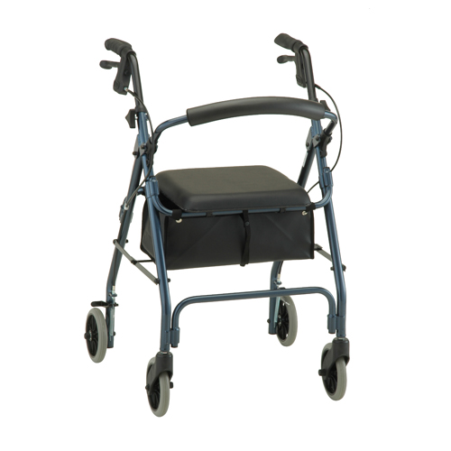 Nova Medical Cruiser Deluxe Rolling Walker Blue