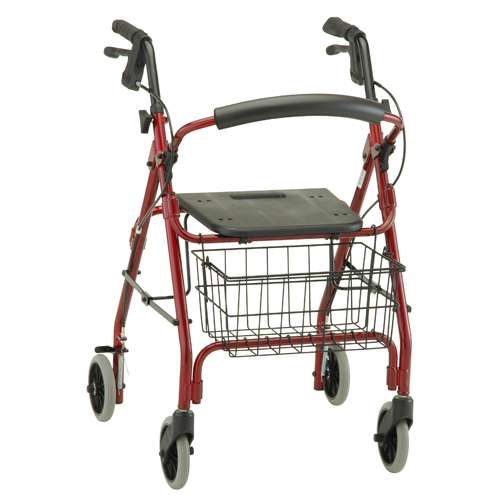 Nova Medical GetGO Rolling Walker Red