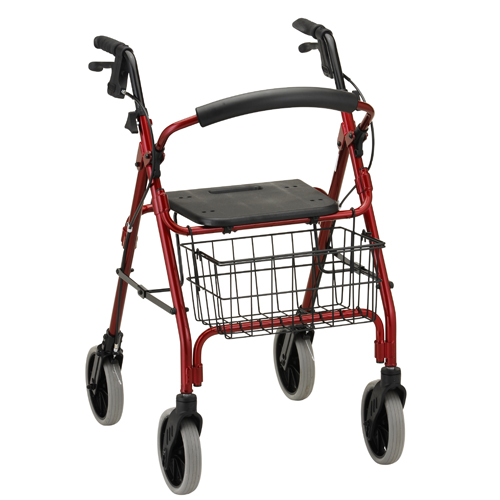 Nova Medical GetGO Tall Rolling Walker Red