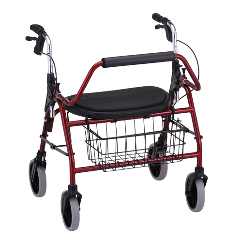 Nova Medical Mighty Mack Heavy Duty Rolling Walker Red