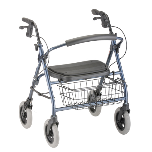 Nova Medical Mini Mack Heavy Duty Rolling Walker Blue