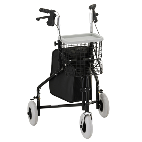 Nova Medical Traveler 3-Wheeled Walker Black