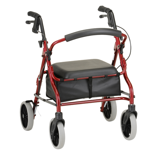 Nova Medical ZOOM 18 Rolling Walker Red