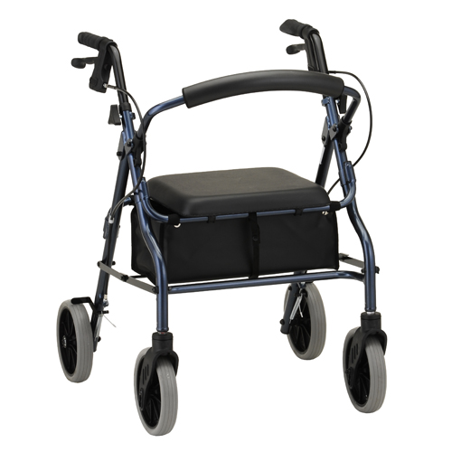 Nova Medical ZOOM 20 Rolling Walker Blue